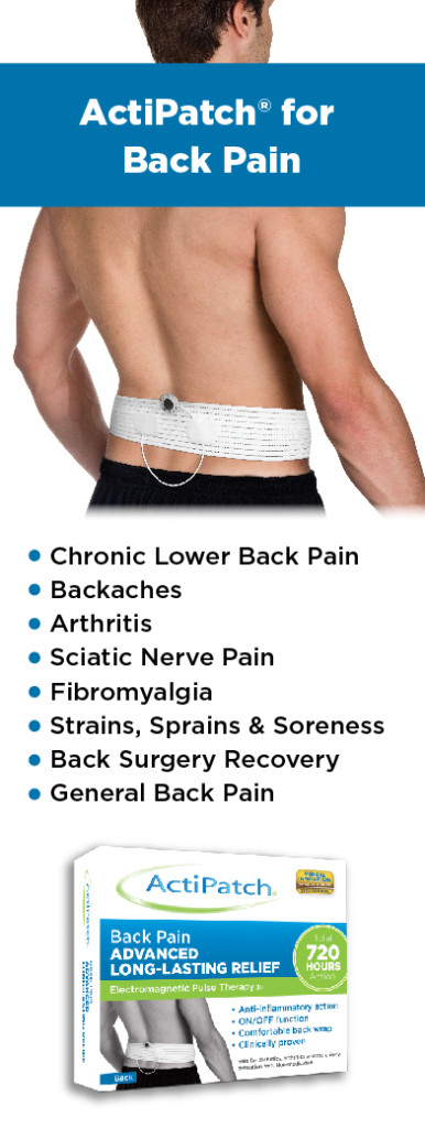 ActiPatch Back Pain Indiciations Table 12-5-14-01